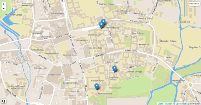 ByPlace free access points in Oxford